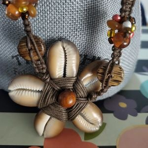 Jewelry - Seashell Pendant and Earring Necklace Set